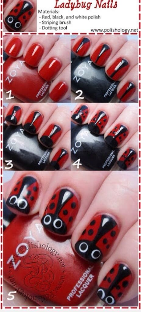 easy nail art ladybug ladybug nail art trusper