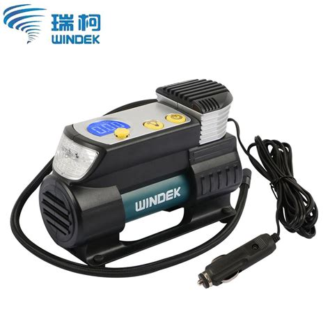 windek car air compressor 12v electric auto tire inflator with preset auto stop function