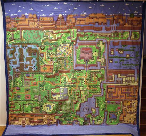link s awakening map quilt by 8bithealey on deviantart