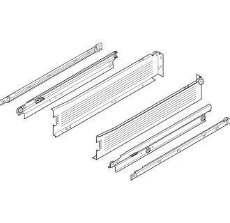 16 drawer slides bottom mount blum 330m400pc15 w white metabox 16 inch full extension