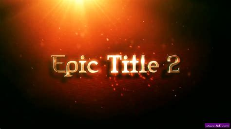 motion title templates free epic title 2 after effects template motion array