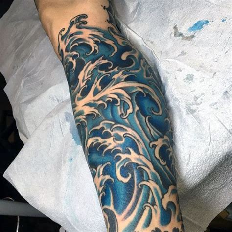 oriental waves tattoo designs 60 japanese wave tattoo designs for men oceanic ink ideas