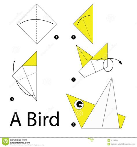 How To Make Paper Bird - step by step how to make origami a bird