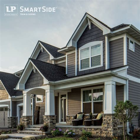 Gauntlet Gray Sherwin Williams lp smartside lap siding 14 traditional exterior