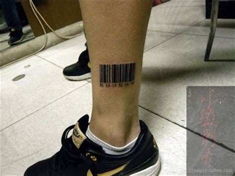 barcode tattoo on ankle free tattoo designs barcode tattoo near the ankle