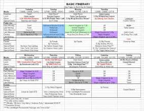 disney world itinerary template best photos of itinerary schedule template travel