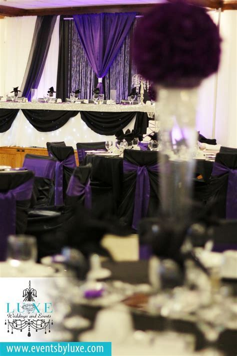 13 best Purple Black and White Damask Wedding Decor images