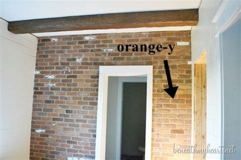 how to whitewash brick house how to white wash brick bathroom update beneath my heart