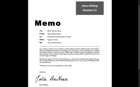 Memo Writing Books How To Write An Informal Memo Toughnickel