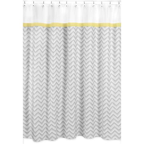 Yellow Gray Shower Curtain by Sweet Jojo Designs Yellow And Grey Zig Zag Shower Curtain