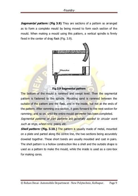 segmental pattern in casting video 3 foundry