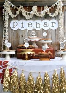 From the gold tassles to the amazing pie bar banner this pie station