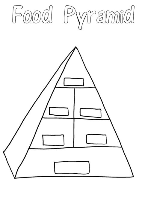 blank food pyramid coloring pages  print