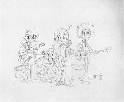 sketchbook band band of teenagers sketch by artistshigeru on deviantart