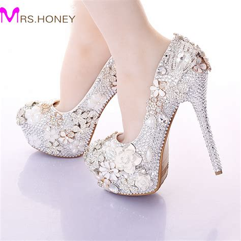 jeweled wedding shoes 2016 gorgeous wedding shoes toe rhinestone bridal