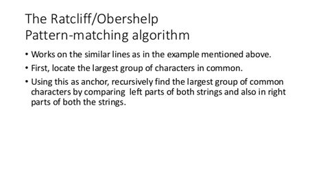 ratcliff obershelp interface for finding close matches from translation memory