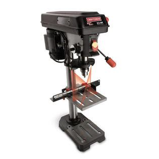 craftsman 10 bench drill press craftsman 10 quot bench drill press with laser trac 174 21900