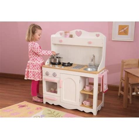 cuisine fille bois la cuisine dinette en bois complet avec meuble achat