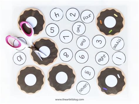 Donuts Number donut playdough mats for number practice instant