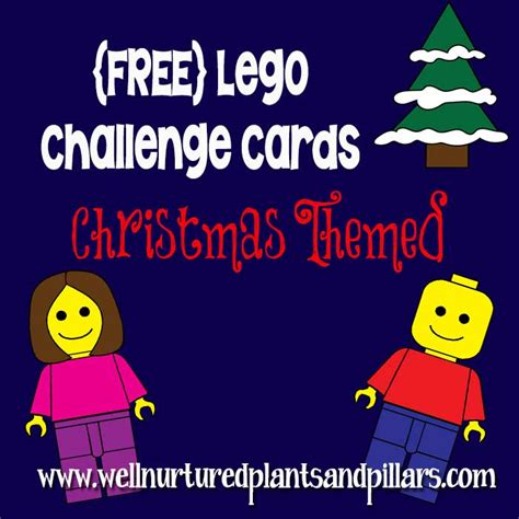 printable lego christmas cards free christmas themed lego challenge cards printable