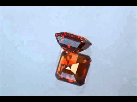 Hq Orange Garnet reddish orange spessartine garnet square cut 2 64