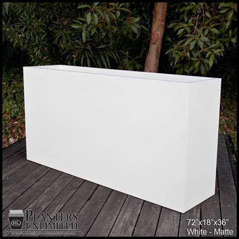 modern rectangle planter 84in l x 18in w x 24in h