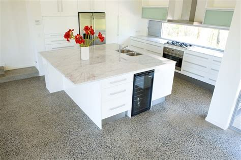 Best Kitchen Flooring Material Options The Pros And Cons Concrete Kitchen Floor