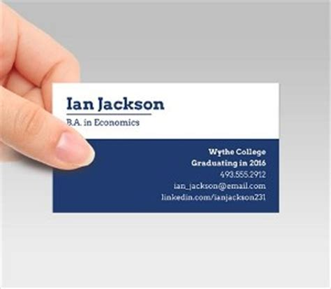 recent graduate student business cards template student business cards signazon