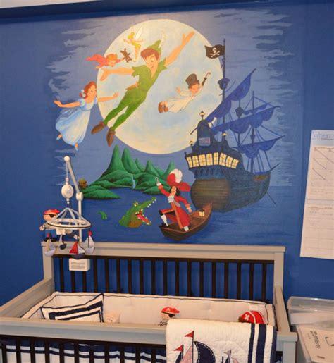 Peter Pan Mural For A Nursery Contemporary Nursery Pan Nursery Decor