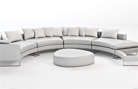 leather curved sectional curved sectional leather sofa 3d models cgtrader com