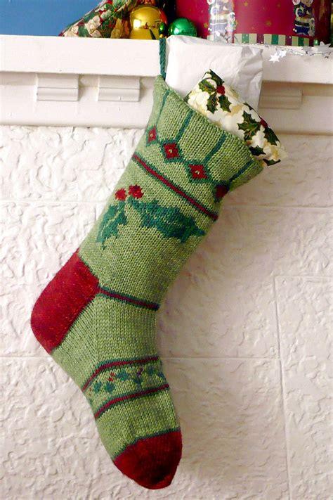 stocking designs holly christmas stocking knitting pattern sweet paprika