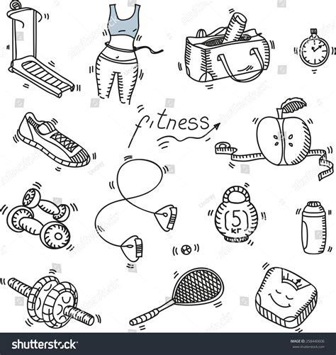 doodle sport doodle sketch icons set stock vector 258440606