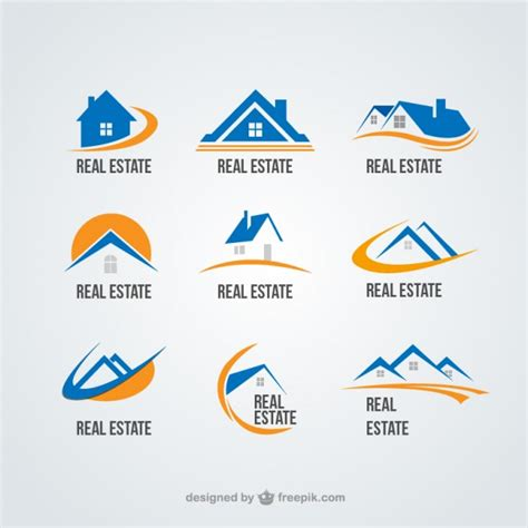 haus logo real state logos collection vector free