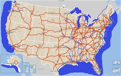 road map us highways interstate road map of united states images