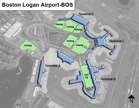 boston logan airport map boston logan bos airport terminal map