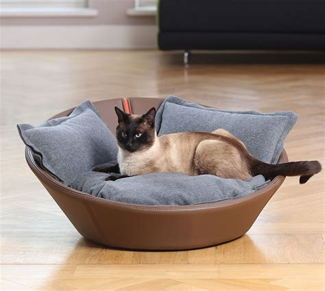 luxury cat beds luxury faux leather mila cat bed chelsea cats