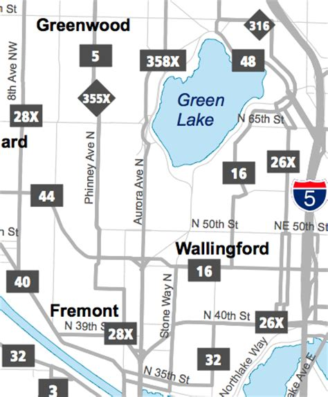 seattle map fremont a closer look at metro s cuts seattle and king county