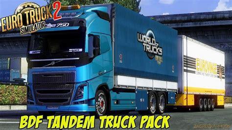 volvo v79 bdf tandem truck pack v79 0 1 27 x 187 mods