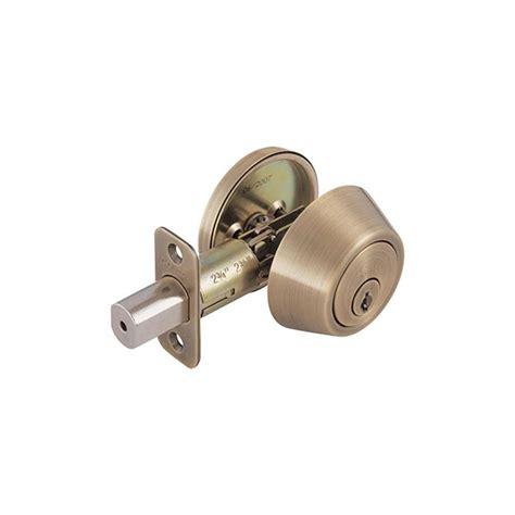 design house deadbolt design house single cylinder antique brass deadbolt 755306