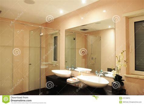 light pink bathroom bathroom in a light pink with roses on the wall royalty free stock image image 27579876