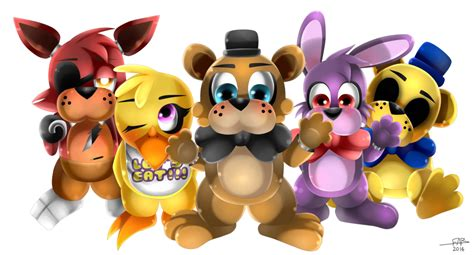 imagenes kawaii five nights at freddy s five nights of kawaii by shinyhunterf on deviantart