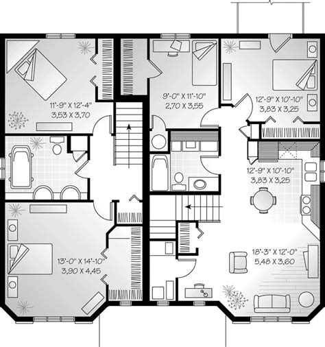 dual family house plans hennessey multi family triplex plan 032d 0377 house