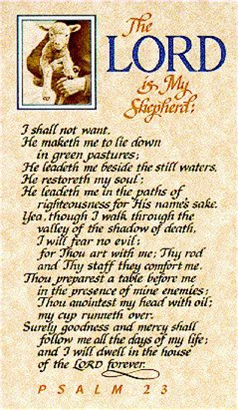 printable version 23rd psalm 23rd psalm the lord is my shepherd i shall not want