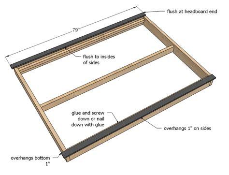how to make a platform bed frame pdf diy how to build a platform bed frame download home studio desk design plans
