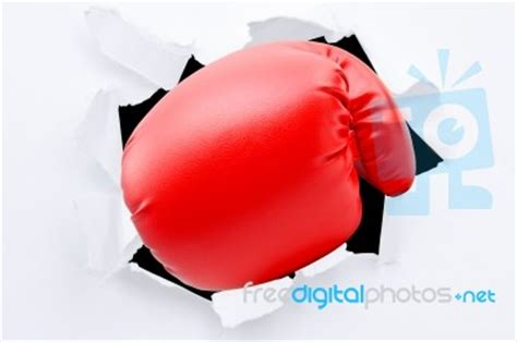 How To Make Paper Boxing Gloves - boxing glove from tearing paper stock photo royalty free