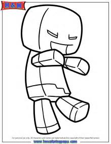 minecraft zombie steve coloring amp coloring pages