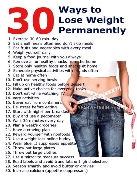7 Best Ways To Your Weight by 30 Ways To Lose Weight Permanently Healthy Fitness