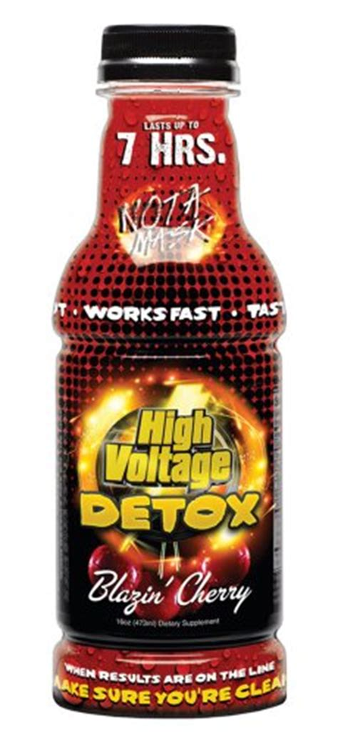 Pureflush Brand Detox Drink by High Voltage Detox Drink 16oz Blazin Cherry Health