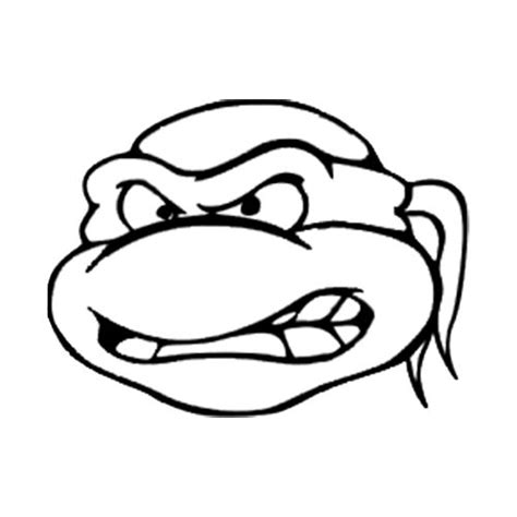 ninja turtles head coloring pages vinyls coloring and window stickers on pinterest