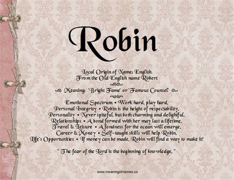 names meaning comfort robin name meaning and analysis meaning of names